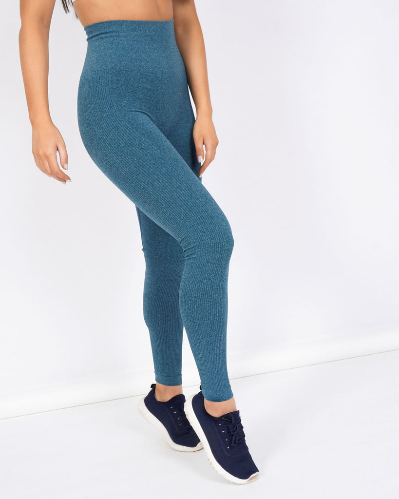 Core Trainer Dominate Seamless Tights Teal Blue