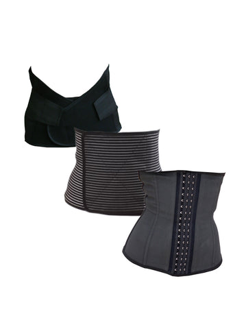 Core Trainer Everyday Breathable Non Latex Waist Trainer Black