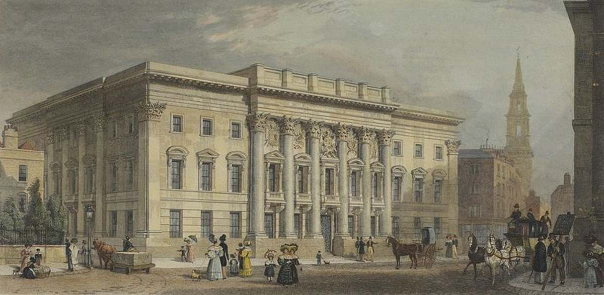 Goldsmiths Hall 19th century engraving