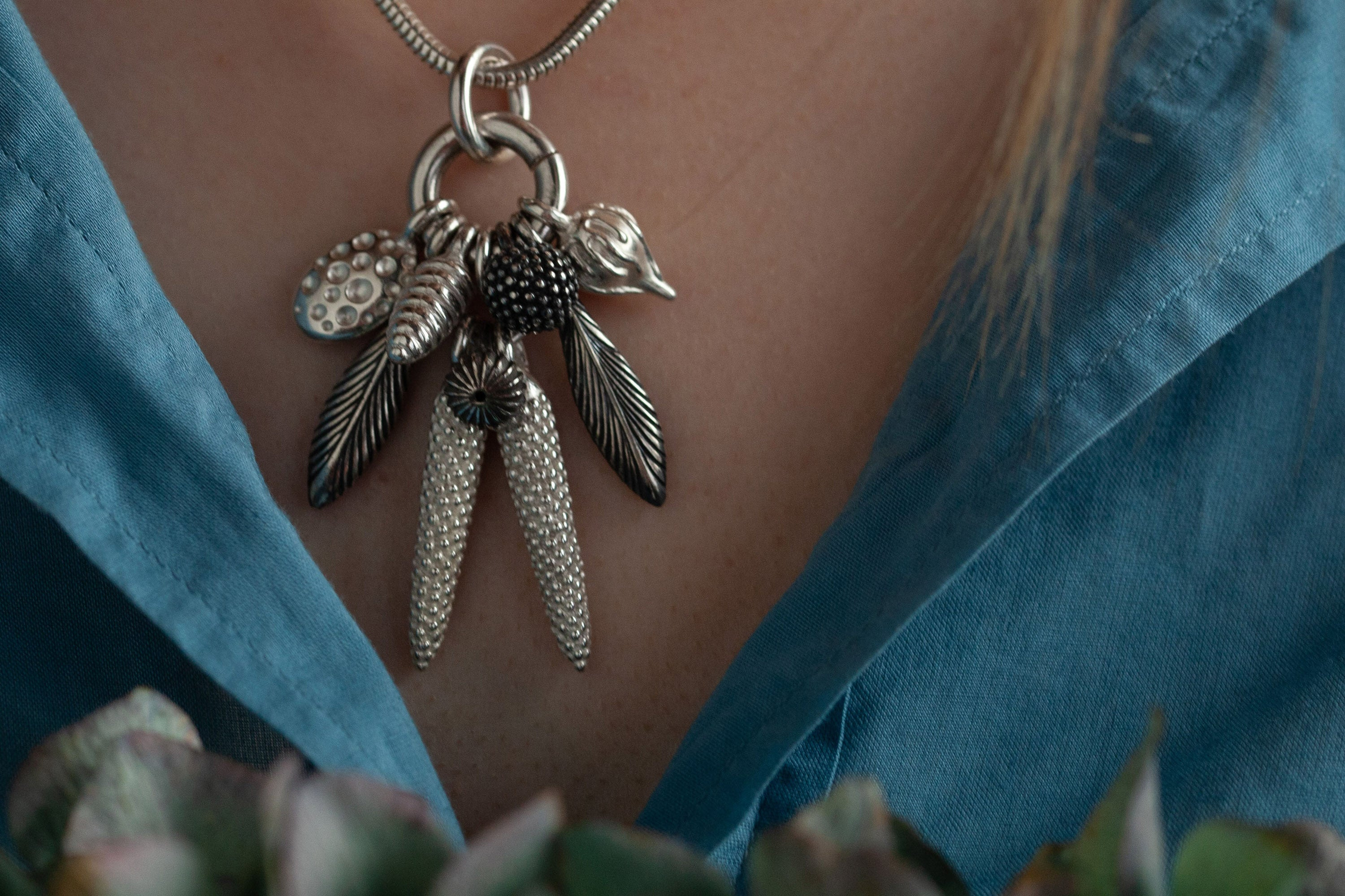 Catherine Hills Jewellery - Dream Catcher Feather Pendant Necklace