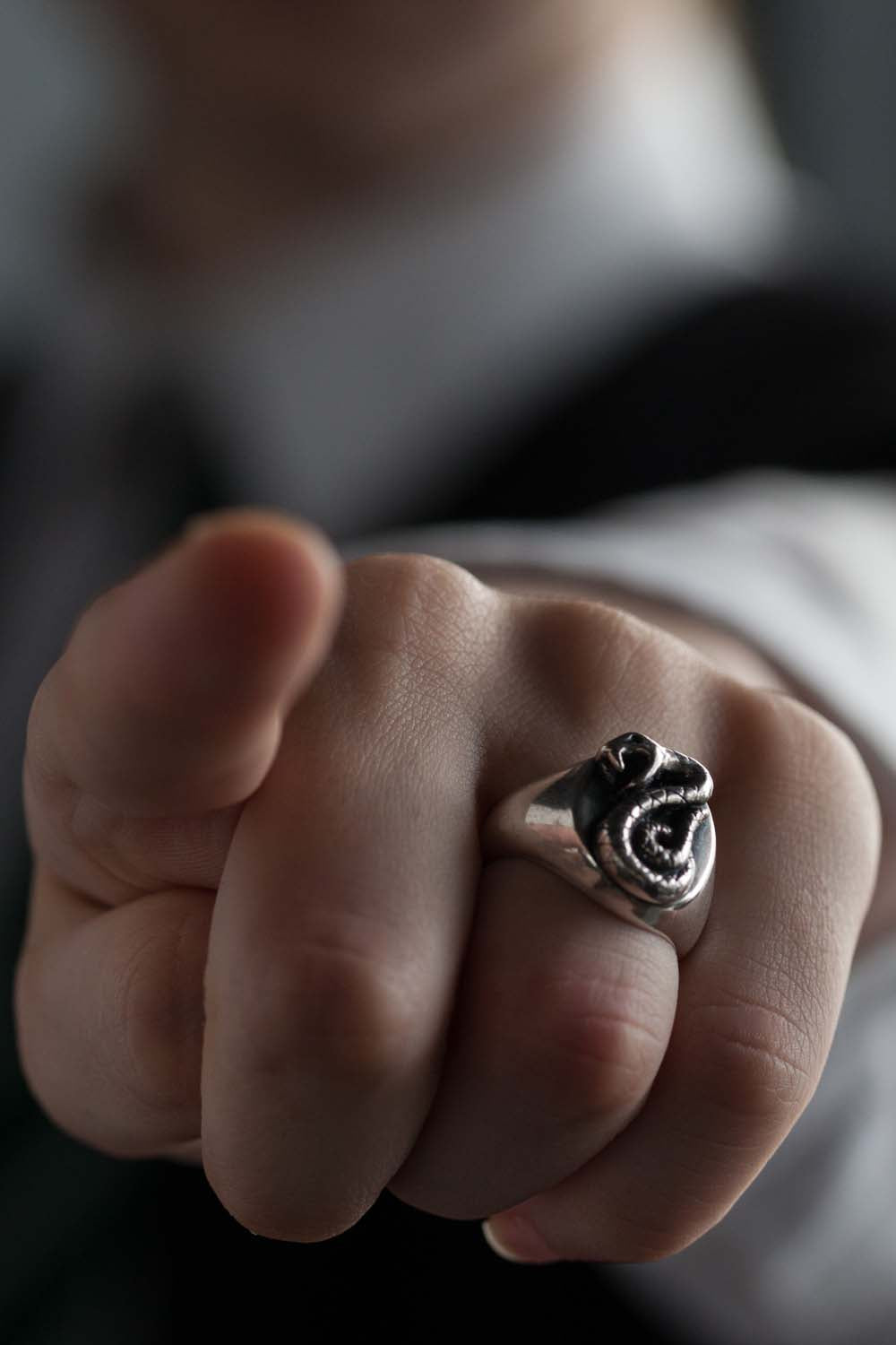 Harry Potter Slytherin Ring handmade by Catherine Hills Jewellery