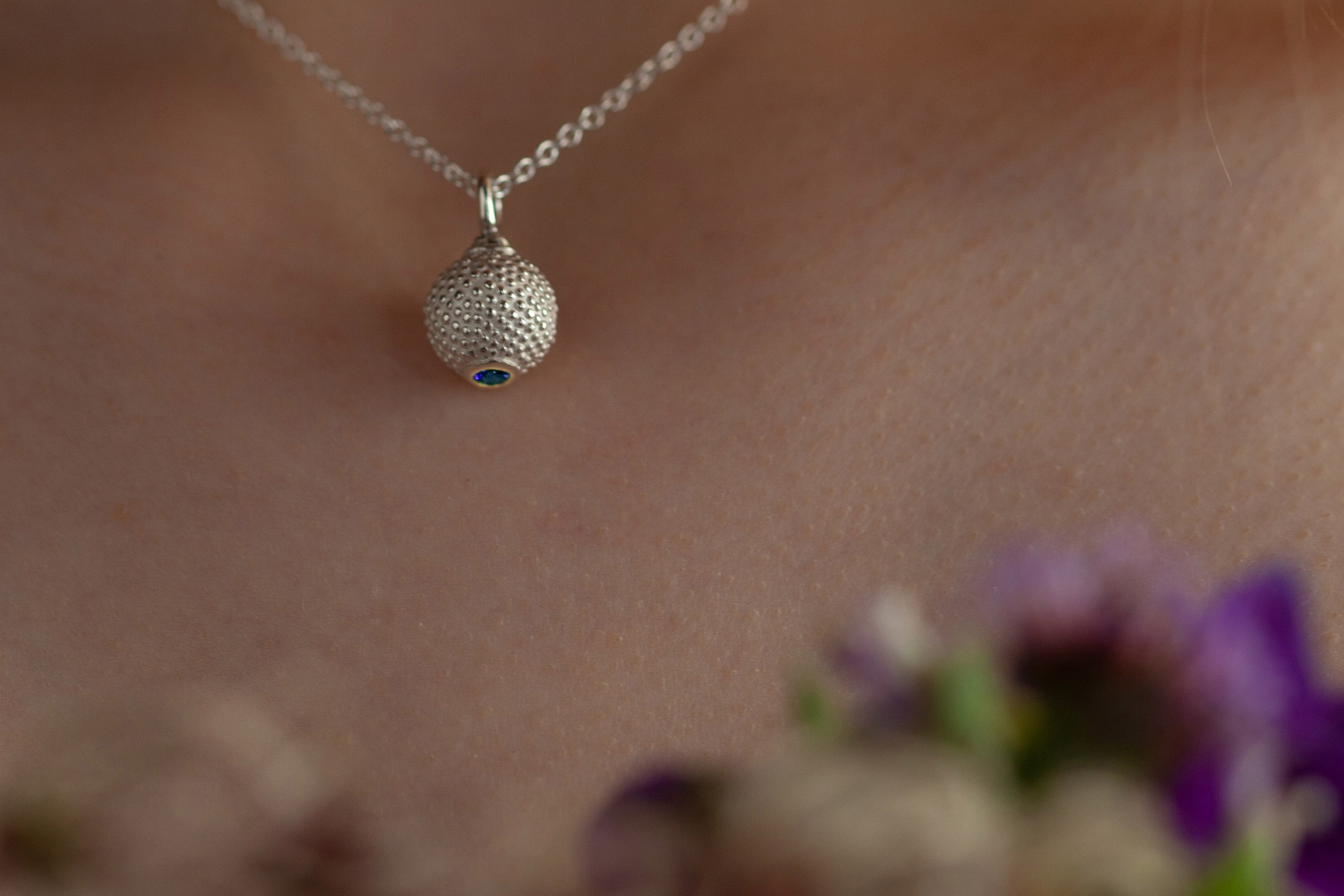 Catherine Hills Jewellery - Birthstone Ball and Chain Pendant Necklace