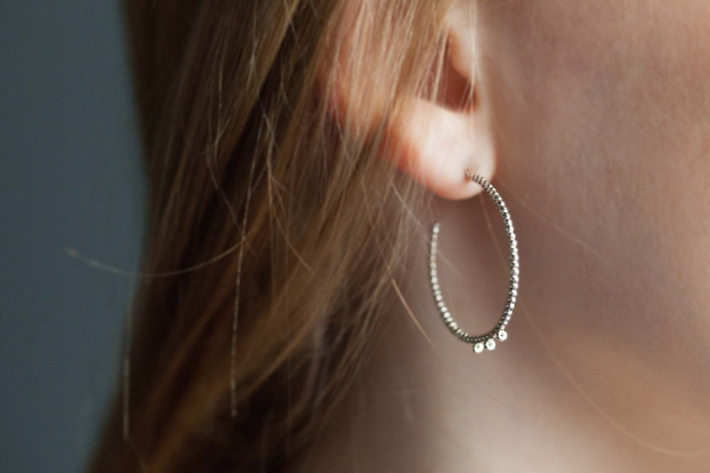 Catherine Hills Jewellery Bubble Hoop earrings