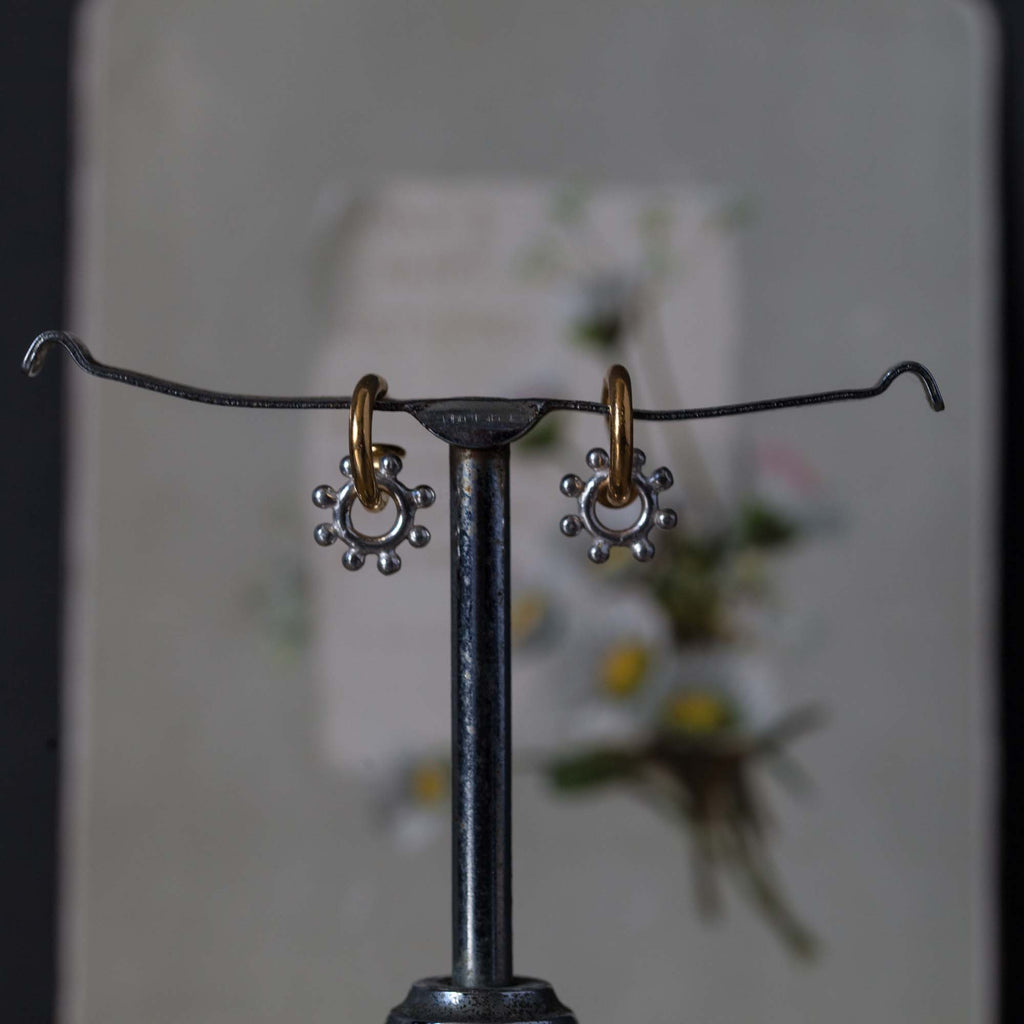 Catherine Hills Jewellery Daisy Hoop earrings