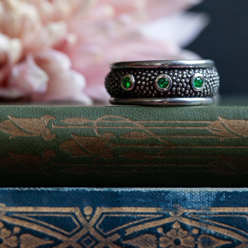 Catherine Hills Jewellery Commissions - emerald ring