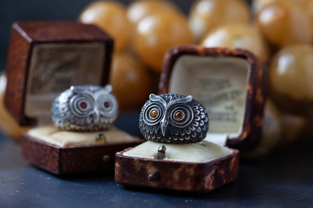 Catherine Hills Jewellery Owl rings