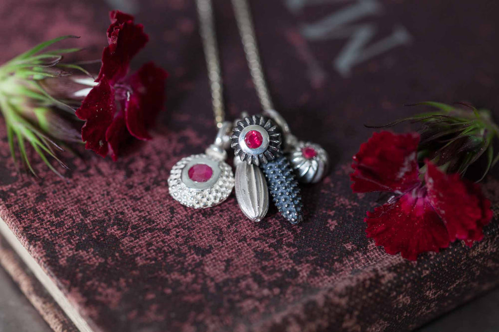 Catherine Hills Jewellery Ruby Pollen Cluster pendant