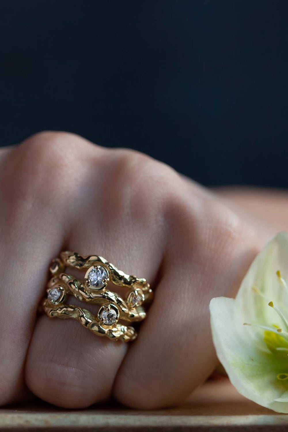 Catherine Hills Jewellery commission - gold branch ring