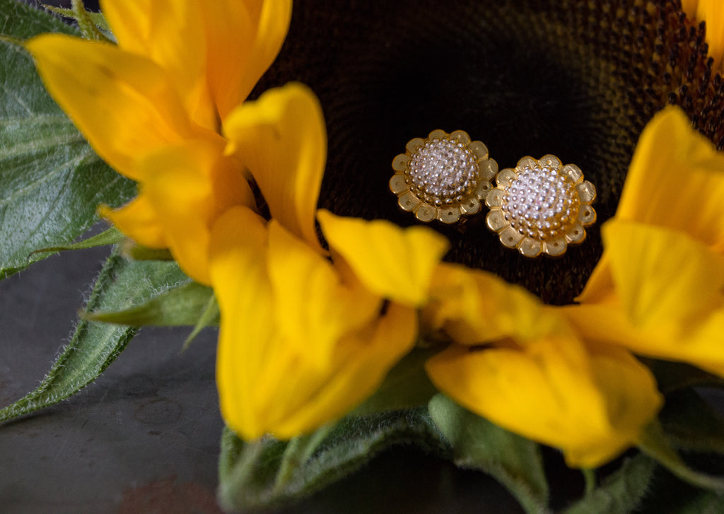 Catherine Hills Jewellery, Sunflower stud earrings