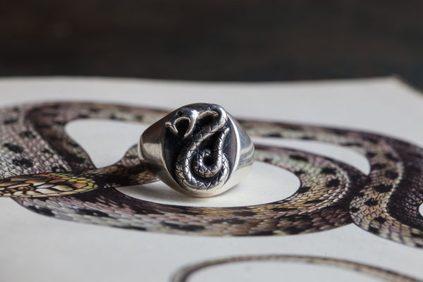 Slytherin snake ring, Catherine Hills Jewellery