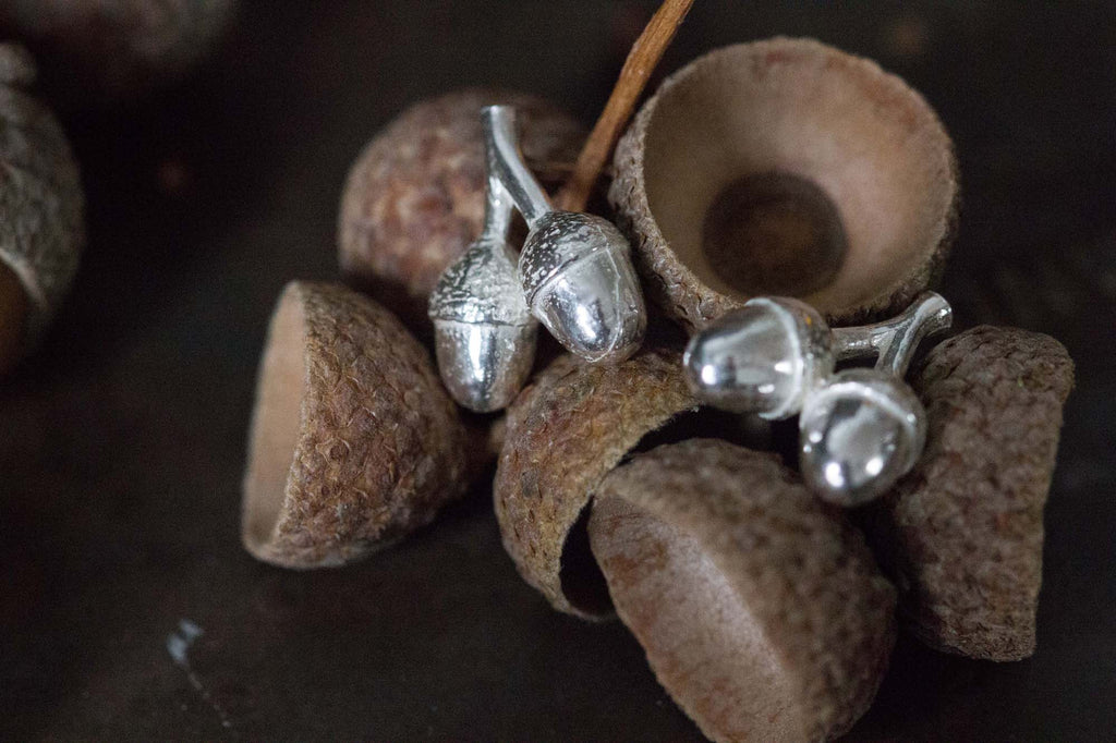 Catherine Hills Jewellery Twin Acorn stud earrings
