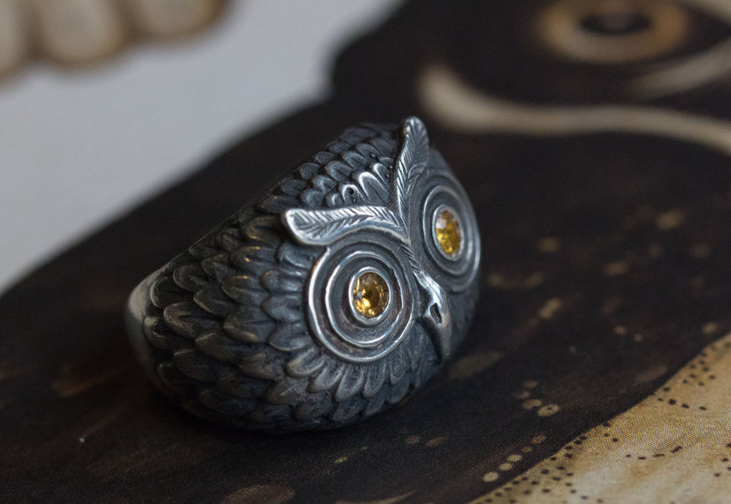 Catherine Hills Jewellery, Owl ring