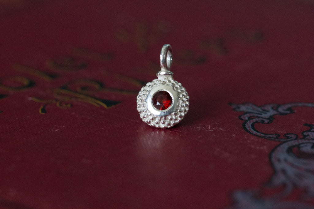 Catherine Hills Jewellery, birthstone, January's charm Garnet