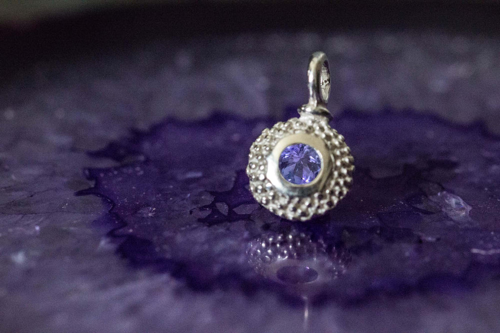 Catherine Hills Jewellery Tanzanite birthstone charm