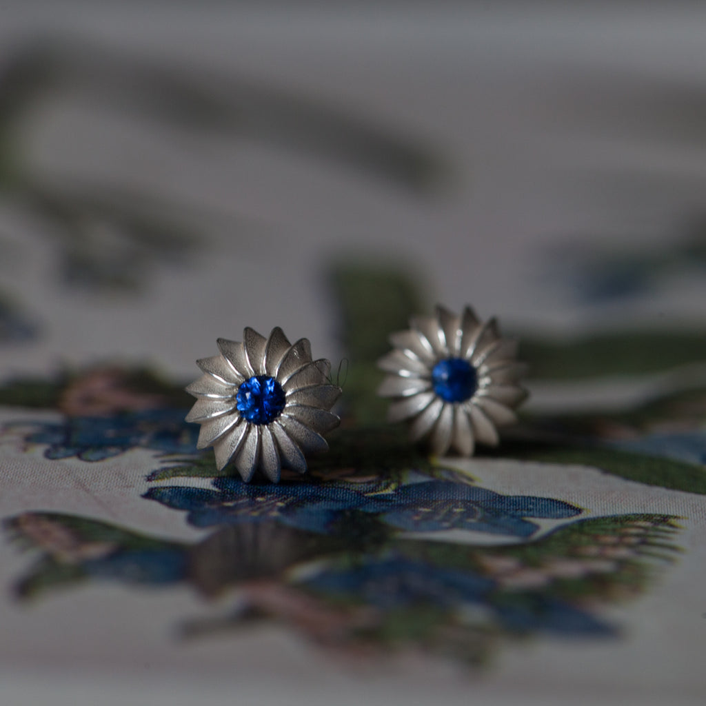 Catherine Hills Jewellery Sapphire birthstone satsuma studs earrings