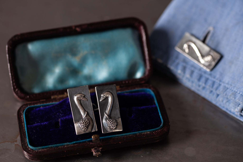 Catherine Hills Jewellery Commission - swan cufflinks
