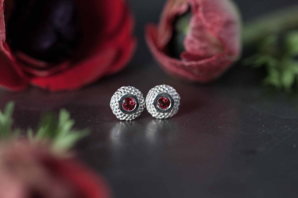 Catherine Hills Jewellery Ruby studs