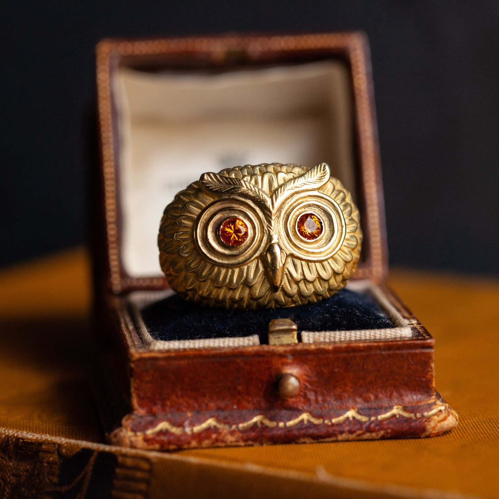 Catherine Hills Jewellery Commission - golden owl ring
