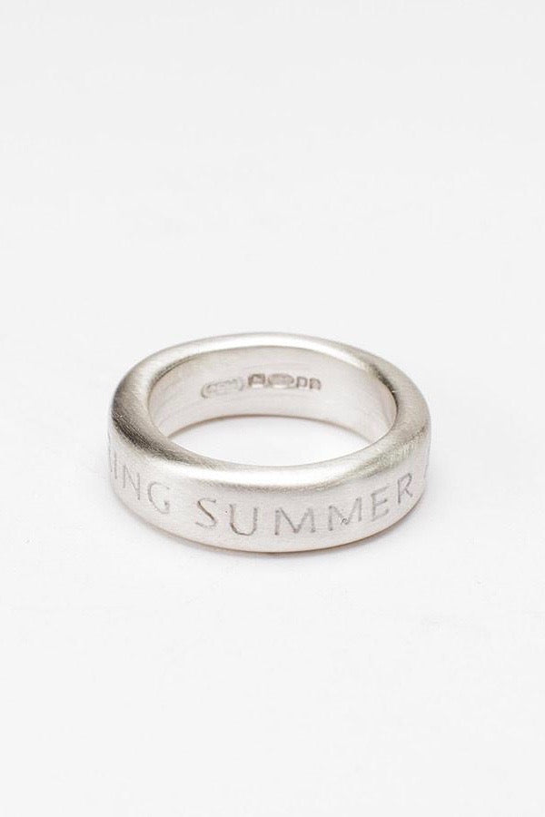 engraved seasons ring solid silver ring