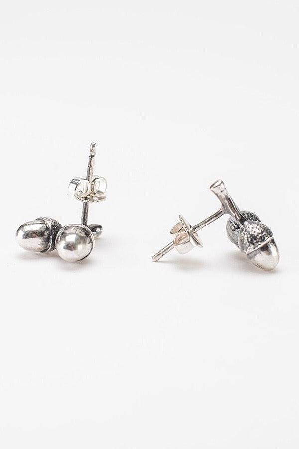Twin Acorn Stud Earrings