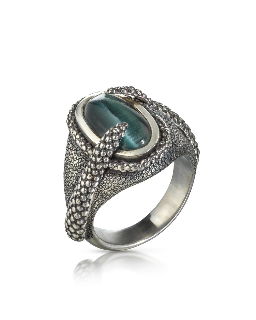 Cats Eye Octopus Ring