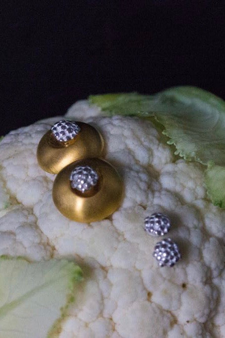 Small Round Cuff with Detachable Cauliflower Studs