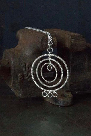 Bubble Hula Hoop Pendant Necklace