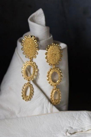 Large Baroque 3 Part Drop Earrings