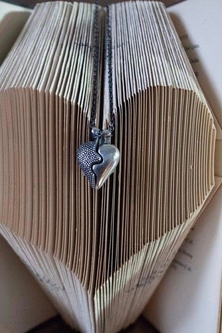 Large Two Part Heart Pendant Necklace
