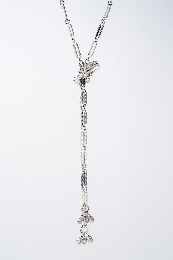 universal chain handmade chain necklace long silver and oxidised silver chain