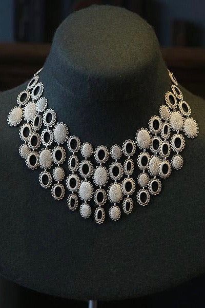 baroque collar necklace silver baroque collar necklace handmade silver baroque collar necklace
