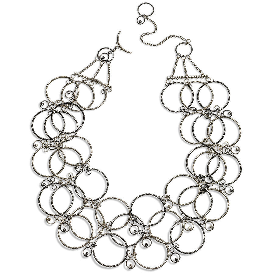 bubble hoop collar necklaces silver statement necklaces hoop necklaces