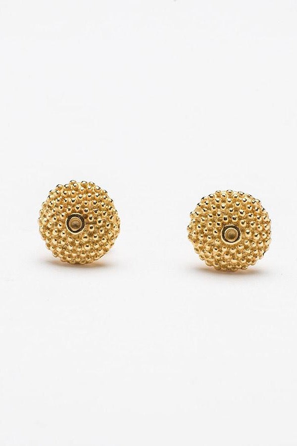 spot the missing stone stud earrings contemporary textured earrings handmade gold earrings