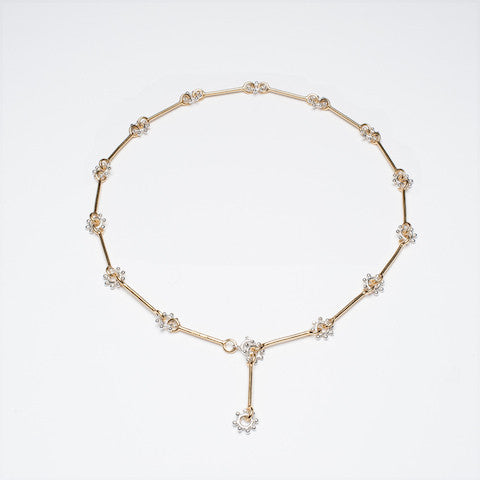 daisy chain necklace gold and silver daisy chain necklace contemporary daisy chain necklace