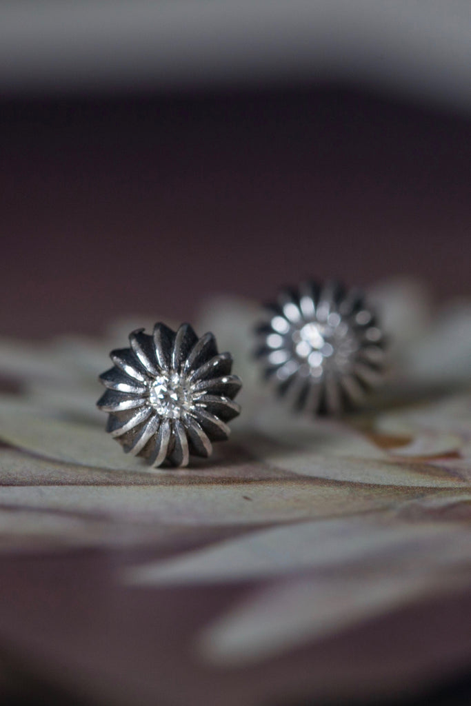 April Diamond Birthstone Satsuma Studs