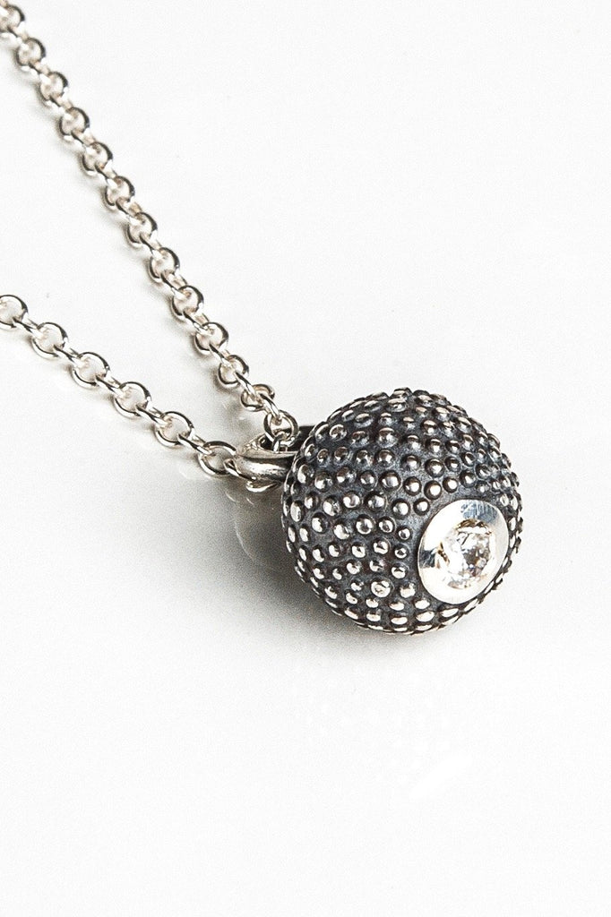 April Cubic Zirconia Birthstone Ball and Chain Pendant Necklace