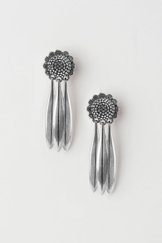 Aster Daisy Drop Earrings