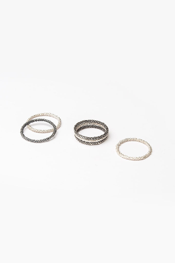 Bobbled Mini Stacking Rings