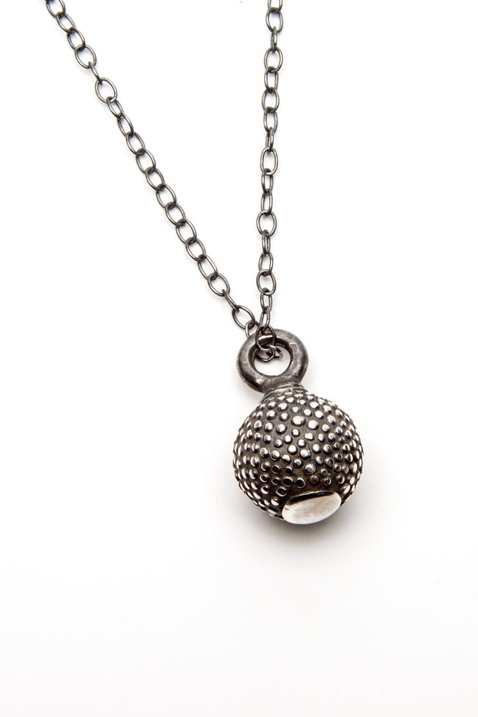 Spotted Ball and Chain Pendant Necklace