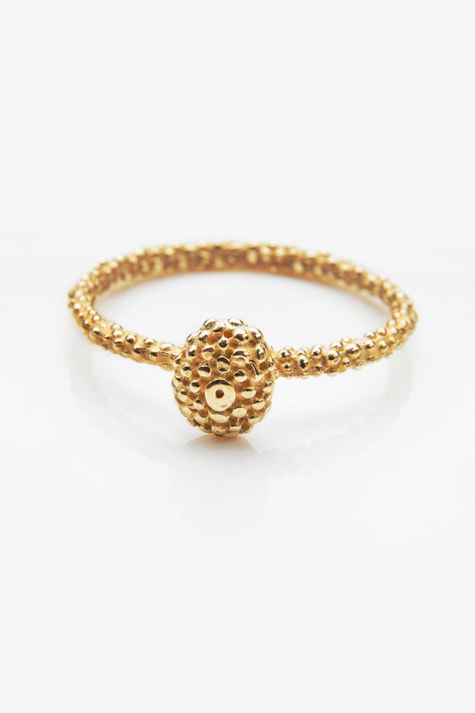 Snake Eye Bobbled Stacking Ring