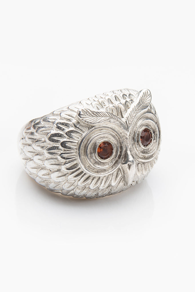 Owl Ring with Madeira Citrine's