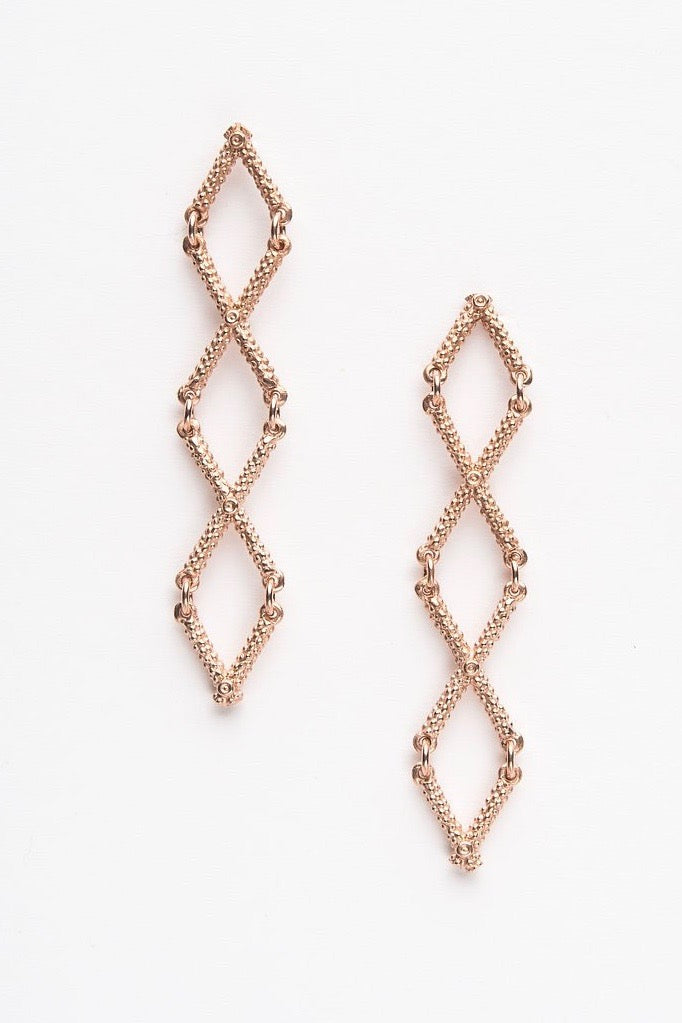 Kiss Cross Drop Earrings