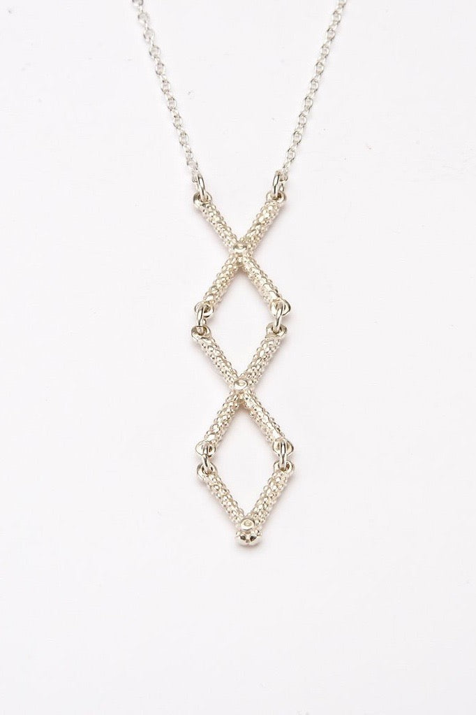 cross necklace textured silver necklace handmade contemporary cross necklace