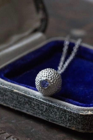 December Tanzanite Birthstone Ball and Chain Pendant Necklace