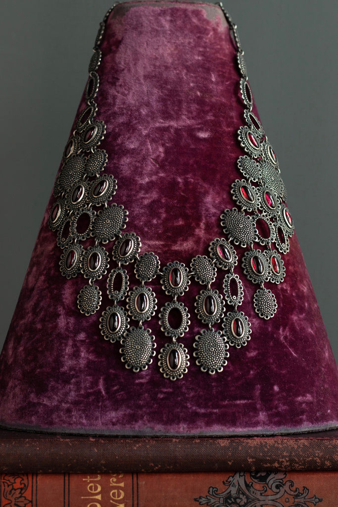 Garnet Baroque Collar Necklace