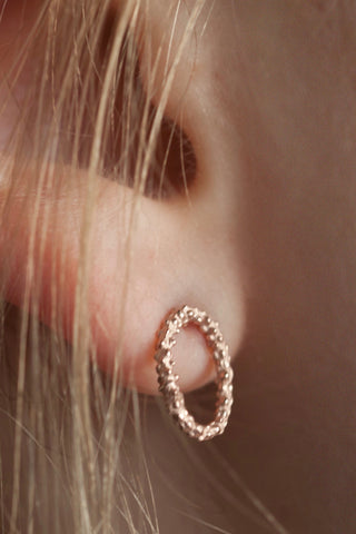 Tiny Oval Hoop Earrings