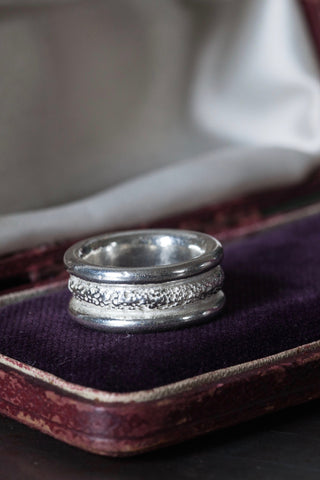 Chunky Textured Band Ring