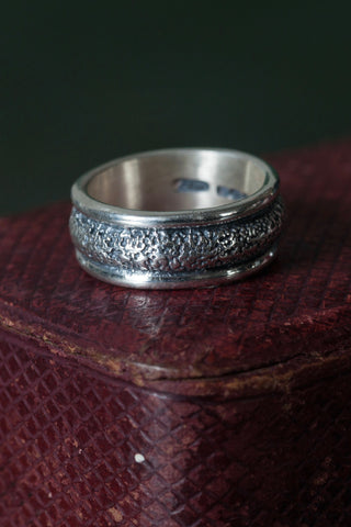 Small Textured Band Ring