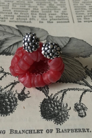 Small Raspberry Stud Earrings