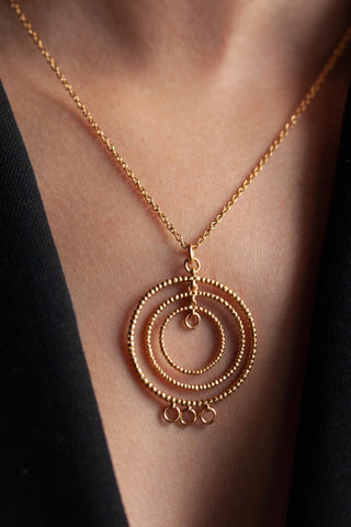 Bubble Hoop Pendant Necklace